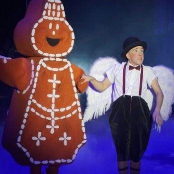 gingerbread brood engel looppak mascotte kerstcircus circus promotie