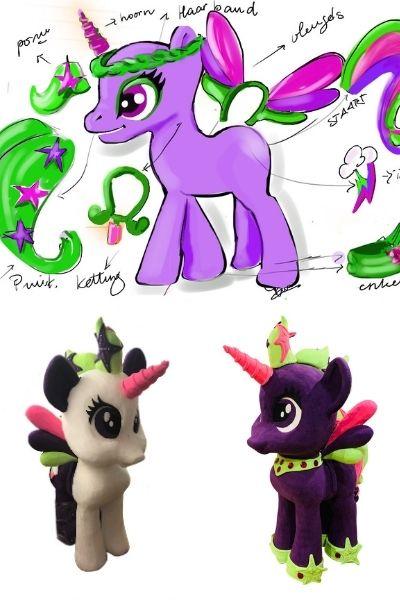 my little pony paardje eenhoorn ontwerp mascotte looppak