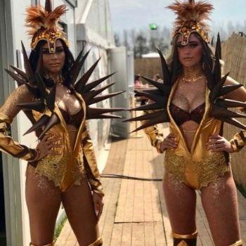 promotie dans festival mayworks goudenkostuum danseres hostess bedazzled