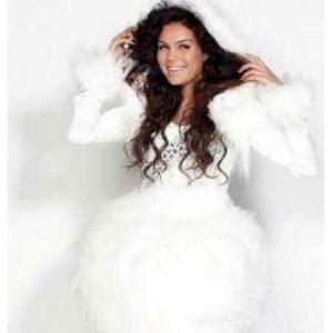 ijskoningin kostuum winter promotie show hostess bedazzled