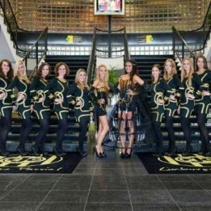roda jc champagne hostess promotie voetbal champions leage voetbalstadion bedazzled